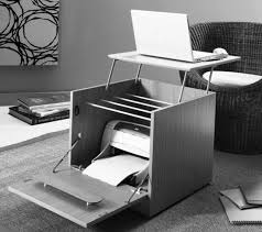 Small Hideaway Desk Side Table That Doubles As A Laptop Printer Hideaway Desk