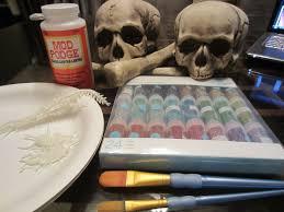 halloween glittered skulls diy inspired