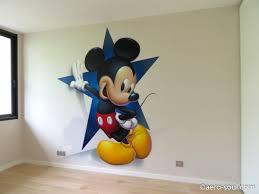 chambre mickey mouse décoration murale graffiti aérosol pour chambre d enfant mickey mouse