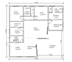 plan de cuisine en l plan maison en l 100m2 v exemple de scarr co