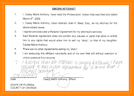 doc 585651 affidavit of sworn statement u2013 sample sworn statement