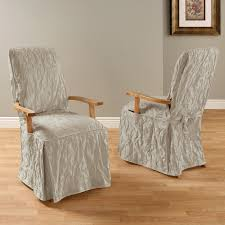 Fine Dining Chair Covers With Arms Intended Ideas - Dining room chair slipcovers with arms