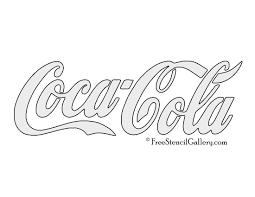 coca cola logo stencil free stencil gallery