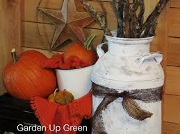diy vintage painted milk jug u2013 garden up green