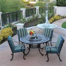 Aluminum Patio Tables Patio Table With Lazy Susan And 5