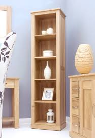 Narrow Bookcase With Drawers by Office Remarkable Opus Oak Furniture Small Wooden Bookcase 3