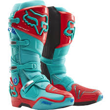 Fox Racing 2015 Limited Edition Instinct Boots Aqua Bottes