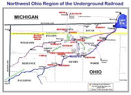 Northwood Ohio Map by Abolitionists Slaves Risked Everything For Freedom And Journey