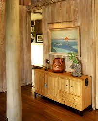 monochromatic palette with wall decor entry tropical and wooden