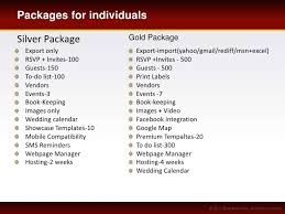 wedding planner packages wedding management software