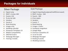 wedding planner packages wedding management software