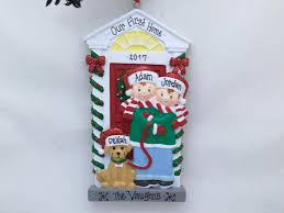 couple with dog personalized christmas ornament our first