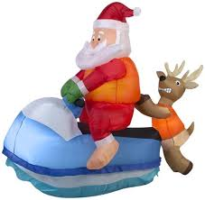 christmas inflatables airblown santa on jet ski christmas seasons