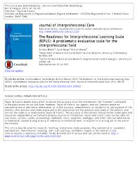 the readiness for interprofessional learning scale ripls a
