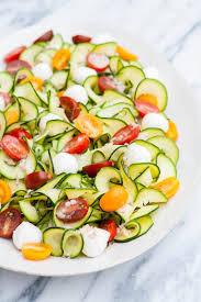 Garden Vegetable Salad by Zucchini Tomato Basil Salad With Lemon Basil Vinaigrette Good