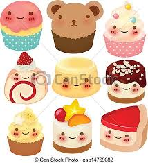 cute desserts collection of cute dessert vector file eps10 vector search