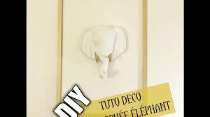trophee elephant carton tuto home deco trophée tête d u0027eléphant youtube