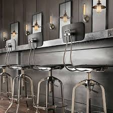 Retro Bar Table American Countryside Industrial Retro Bar Table Pendant Light Us