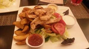 cuisine replay chicken and shrimp with sauces picture of replay cafe restaurant