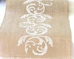 natural burlap table runner romantic gold wedding table runner burlap table runner embroidered