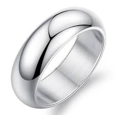 stainless steel wedding rings beautiful engagement mens 7mm silver titanium stainless steel