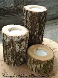 Tree Branch Candle Holder Rustic Wedding Wood Candle Holders