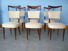 osvaldo borsani 6 italian dining room chairs italy 1950 circa