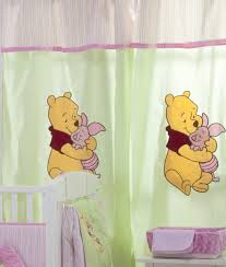 Winnie The Pooh Nursery Bedding Set by Unique Curtains Hiding Pooh 2 Curtains Accessories Window