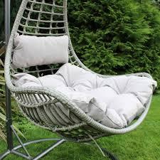 Rattan Hammock Chair Charles Bentley Garden Egg Chair Cane Rattan Effect Grey Buydirect4u