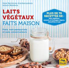 livre de cuisine fait maison laits végétaux faits maison livre de recettes aranburuzabala