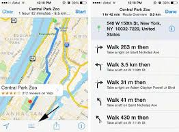 print driving directions from iphone how to get directions to places quickly using apple maps ios 7 x