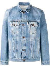 off white color room off white spray paint denim jacket 7301