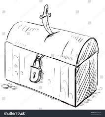 old pirate treasure cartoon icon lock stock vector 87398255