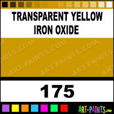 transparent yellow iron oxide artists acrylic paints 175