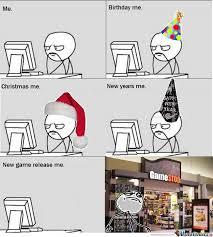 Christmas Birthday Meme - gamer christmas meme festival collections