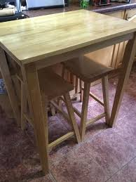 Next Bar Table Sold Next Solid Oak Wooden Breakfast Bar Table And 2 Stools Sold