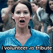 I Volunteer As Tribute Meme - i volunteer as tribute gifs search find make share gfycat gifs