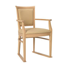 Faux Leather Dinning Chairs Ardenne Dining Chair With Arms And Skis In Cream 5 Year Warranty