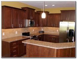 cherry kitchen cabinets backsplash ideas kitchen home design