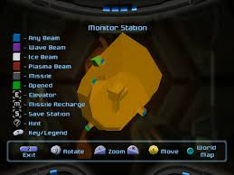 Metroid Map Image Monitor Station Map Screen View Dolphin Hd Jpg Wikitroid