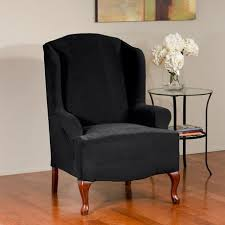 Stretch Wing Chair Slipcover Sure Fit Dimples Stretch Wing Chair Slipcover Walmart Canada