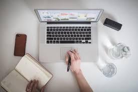 Laptops Desks Laptop Freelance Photography Work Graphics Royalty Free