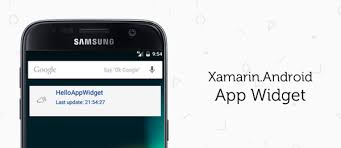 xamarin android how to make an app widget with xamarin android