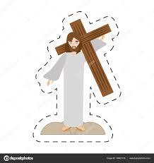 imagenes de jesucristo animado dibujos animados de jesucristo lleva cruz vía crucis archivo