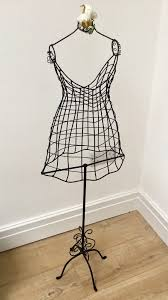 vintage style wire frame wedding mannequin childs dress girls