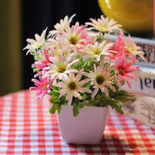 wedding flowers gift beautiful artificial flower set silk flowers plastic vase home