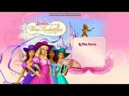 opening barbie musketeers dvd menu