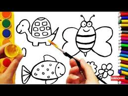 search result youtube video fish coloring page