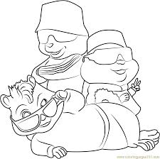 squeakquel coloring free alvin chipmunks coloring