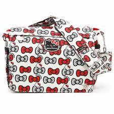 ju kitty peek bow diaper bags